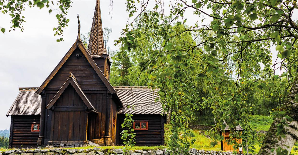 Maihaugen outdoor museum -Garmo stave church
