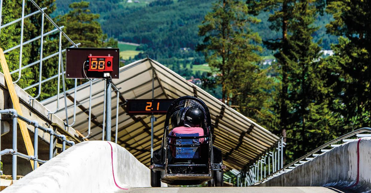 Lillehammer Bob and lugetrack - starting point wheebob