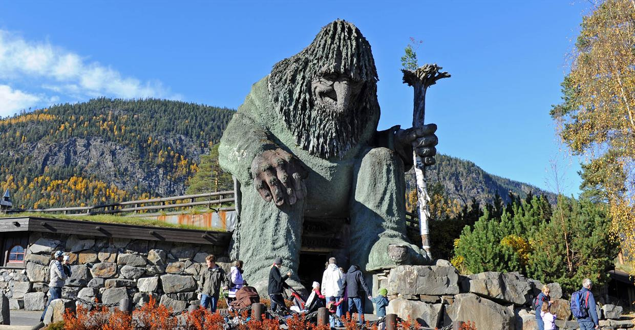 The huge troll at Hunderfossen Family park