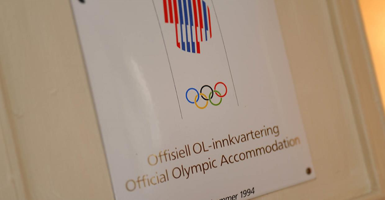 "Sign that says: ""Official Olympic Accommodation"""