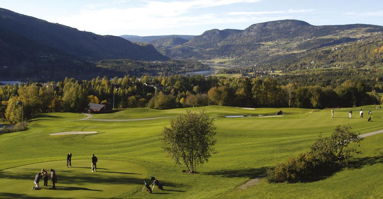 Golf Course with view of Gudbrandsdalen