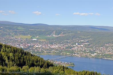 View towards Lillehammer